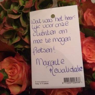 Bedankje van Marente Marienhaven