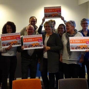 Help Nederland Vooruit van ING schenkt 3.000 Euro